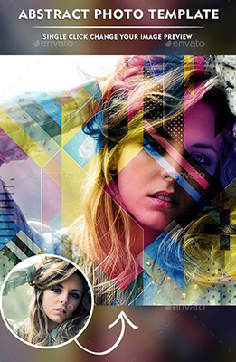 Abstract Photo Template Effect for Photoshop