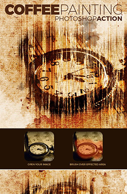Coffee Painting Photoshop Effect