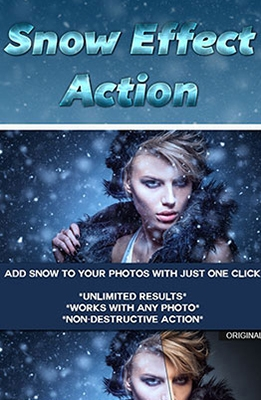 Snow Effect Photoshop Action