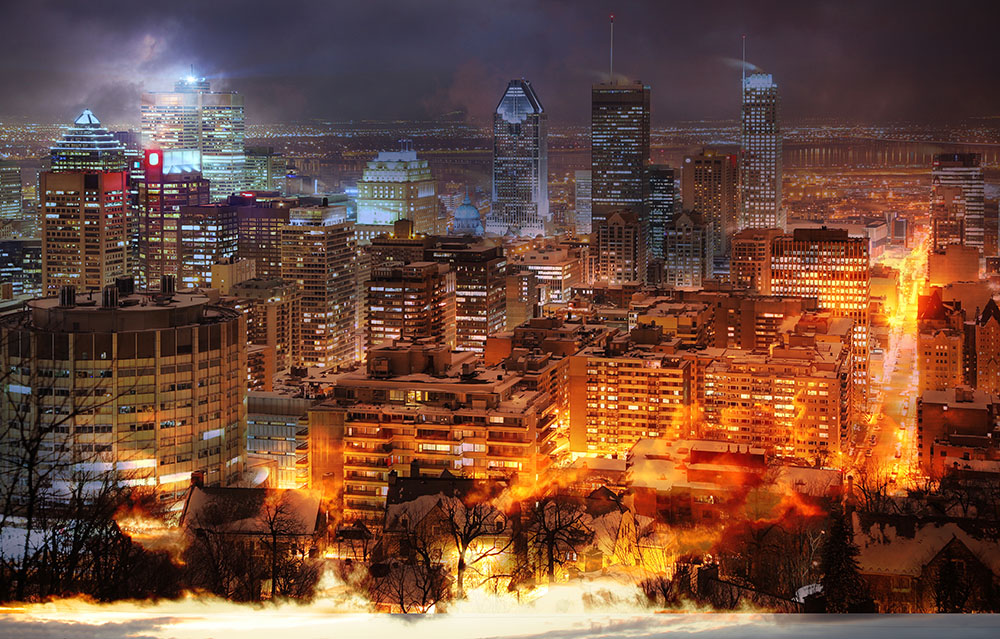 Montreal City Photo Montage 11 - Stock Photo