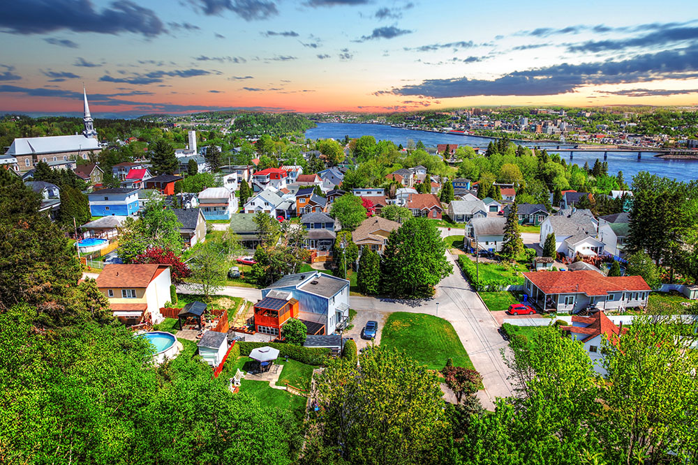 Saguenay City - Stock Photo