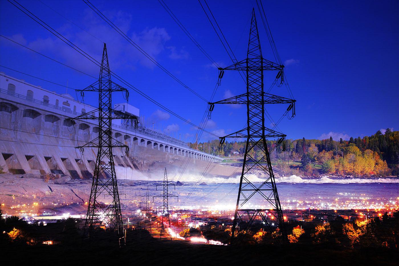 Electric Dam 01 - Stock Photo