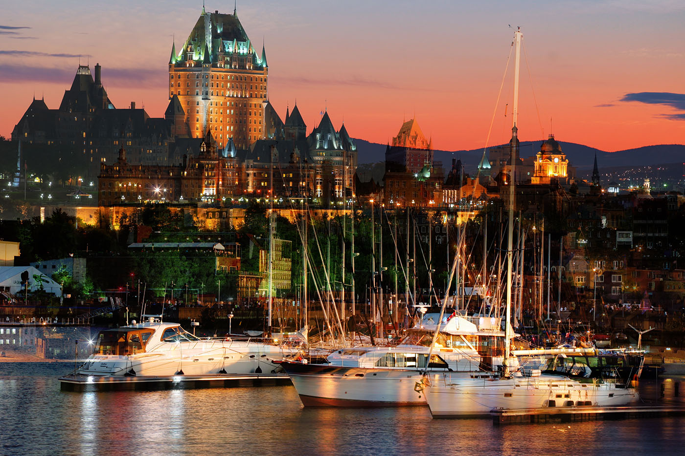 Quebec City Marina - Stock Photo