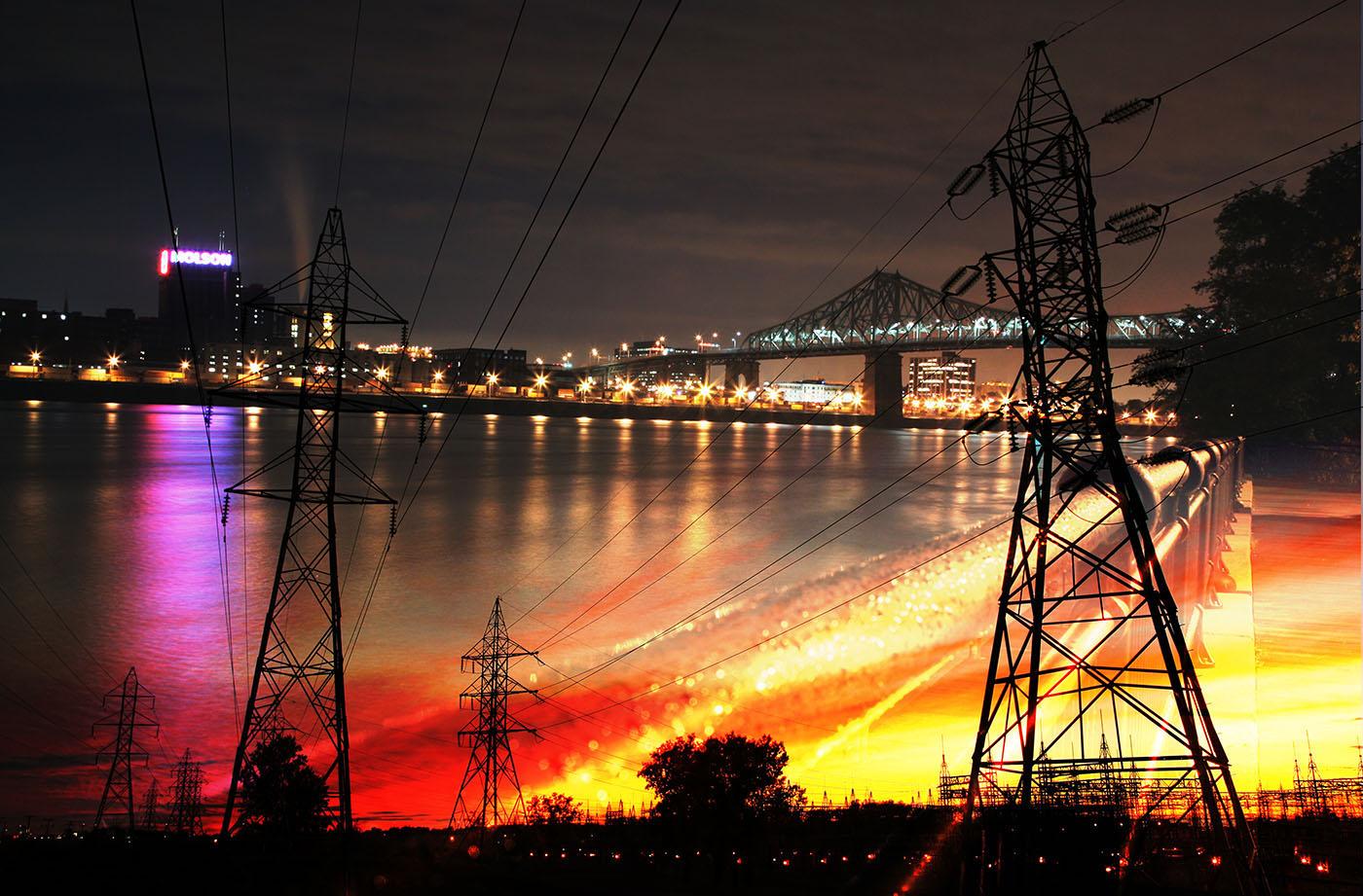 Urban Electrification - Stock Photo