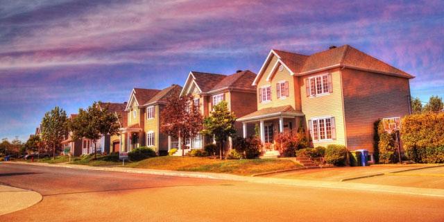 Cozy Neighborhood 02 - Stock Photo