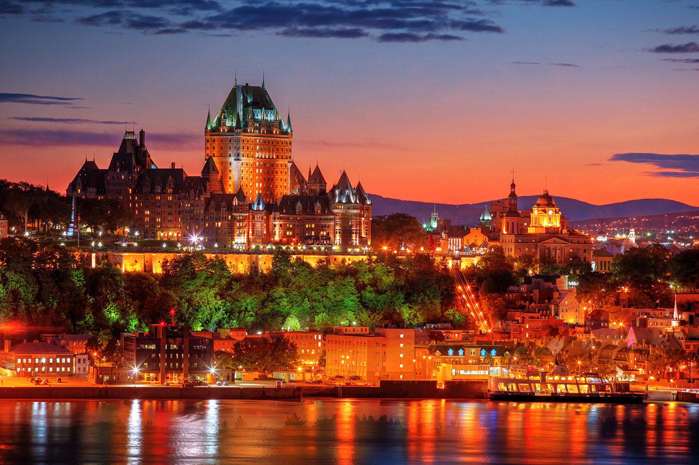 Quebec Frontenac Castle Montage 02 - Stock Photo