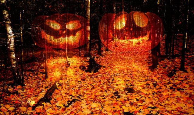 Halloween Scary Wood 2 - Stock Photo