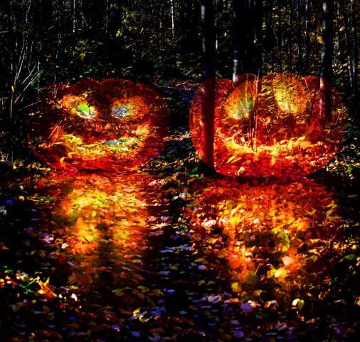 Halloween Scary Wood 3 - Stock Photo