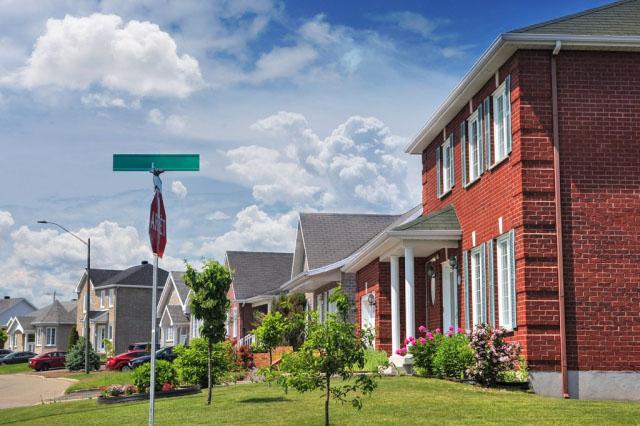 Quiet Neighborhood - Stock Photo