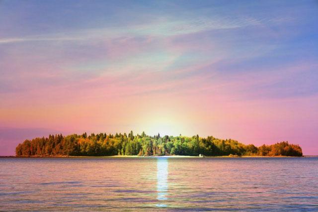 Peaceful Remote Island - Stock Photo