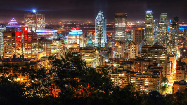 2020 Montreal City View at Night From Mount Royal Lookout Image