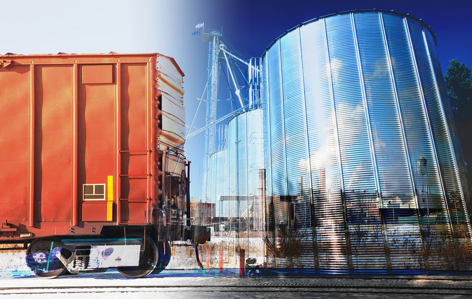 Industry Transport Conceptual Photo Montage